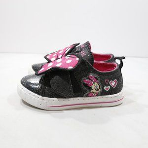 Disney Minnie Mouse Black Sparkly Sneakers